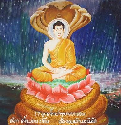 La serpiente protectora del Buda
