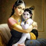 Krishna y su madres yasoda